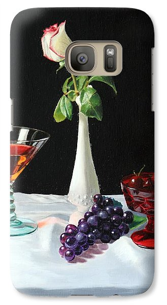 Galaxy Case featuring the painting Rose Wine And Fruit by Glenn Beasley