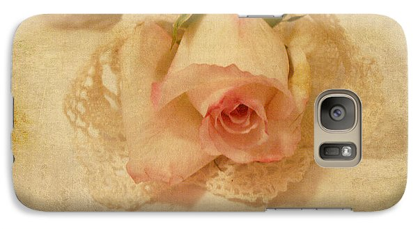 Galaxy Case featuring the photograph Rose With Vintage Feel by Sandra Foster