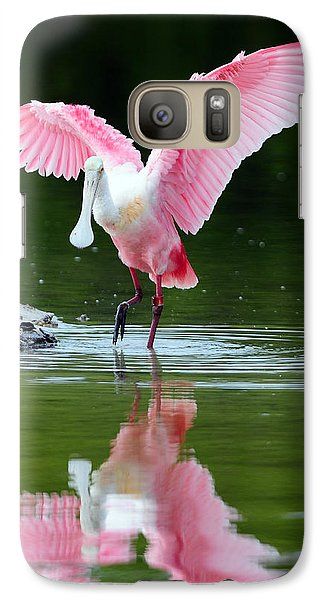Roseate Spoonbill Galaxy S7 Case by Clint Buhler