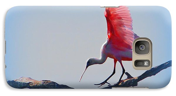 Galaxy Case featuring the photograph Roseate Spoonbill by David Mckinney