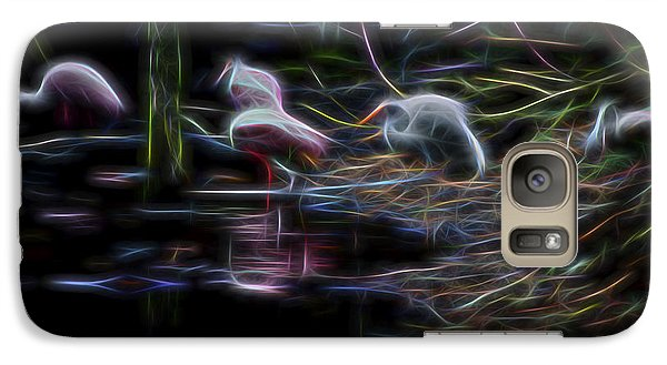 Galaxy Case featuring the digital art Roseate Spoonbills 3 by William Horden