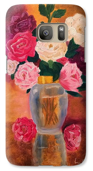 Galaxy Case featuring the painting Roses 2 by Brindha Naveen