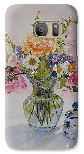 Roses And Daisies Galaxy S7 Case by Beatrice Cloake