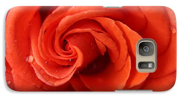 Galaxy Case featuring the photograph Roses And Raindrops by Jeanette French