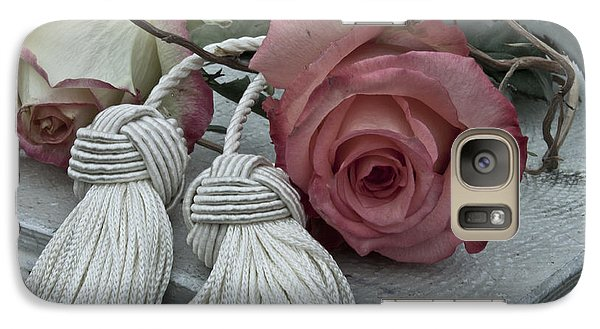 Galaxy Case featuring the photograph Roses And Tassels by Sandra Foster