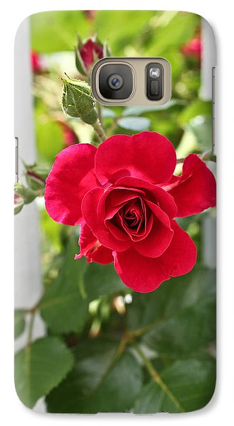 Galaxy Case featuring the photograph Roses Are Red by Joann Copeland-Paul