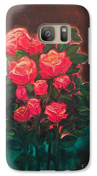 Galaxy Case featuring the painting Roses by Brindha Naveen