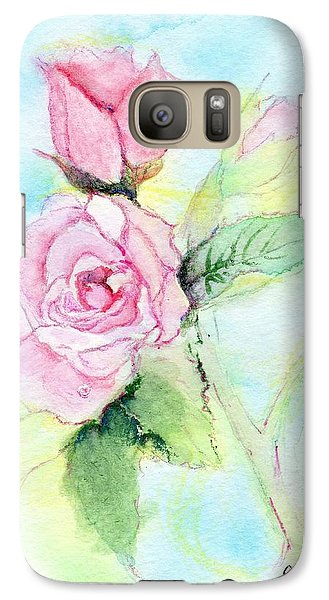 Galaxy Case featuring the painting Roses by C Sitton