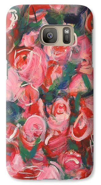 Galaxy Case featuring the painting Roses by Fereshteh Stoecklein