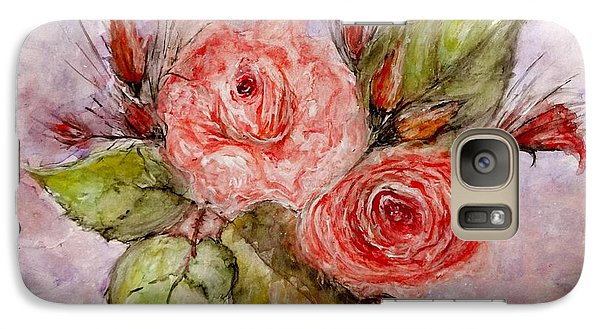 Galaxy Case featuring the painting Roses For You... by Cristina Mihailescu