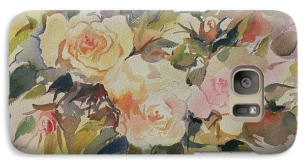 Galaxy Case featuring the painting Roses by Geeta Biswas