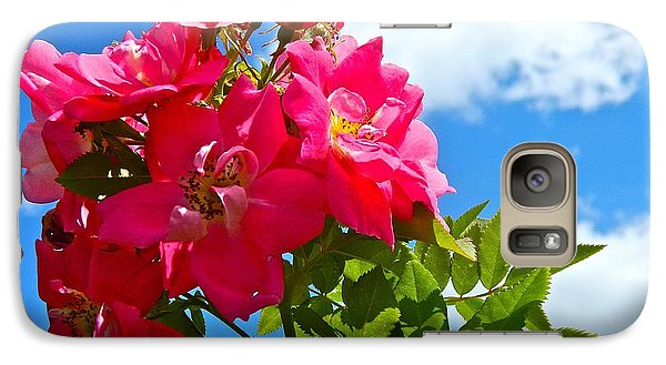 Galaxy Case featuring the photograph Roses In The Sky  by Randy Rosenberger