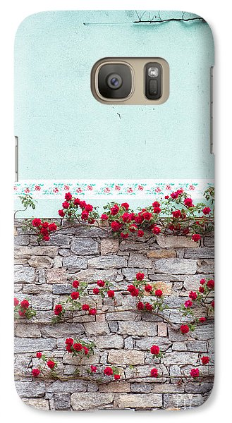 Roses On A Wall Galaxy S7 Case by Silvia Ganora