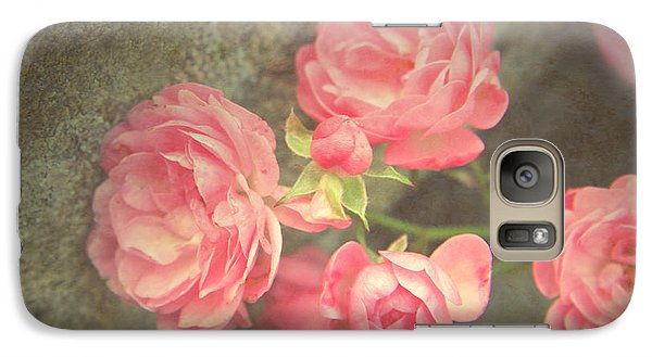 Galaxy Case featuring the photograph Roses On Granite by Brooke T Ryan