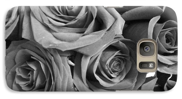 Galaxy Case featuring the photograph Roses On Your Wall Black And White  by Joseph Baril