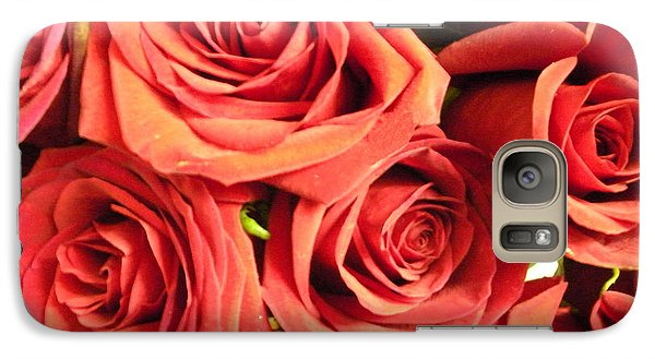 Galaxy Case featuring the photograph Roses On Your Wall by Joseph Baril