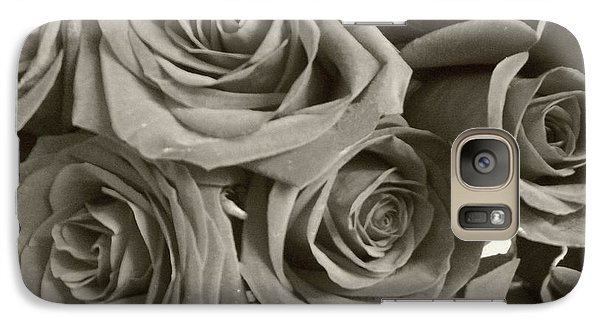 Galaxy Case featuring the photograph Roses On Your Wall Sepia by Joseph Baril