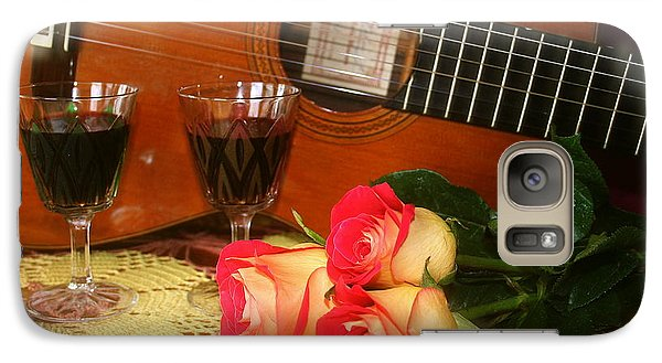 Galaxy Case featuring the photograph Guitar 'n Roses by The Art of Alice Terrill