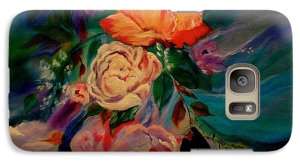 Galaxy Case featuring the painting Roses Roses Roses by Jenny Lee
