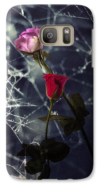 Roses With Coweb Galaxy S7 Case by Joana Kruse