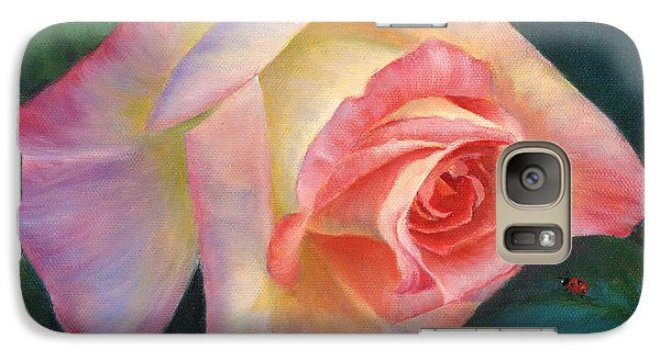 Galaxy Case featuring the painting Rosey And Friend by Jeanette French