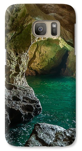 Galaxy Case featuring the photograph Rosh Hanikra Grottoes by Sergey Simanovsky