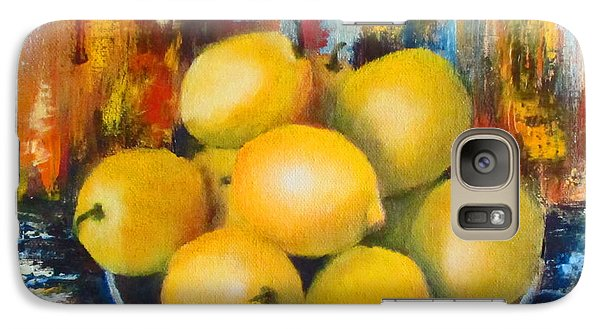 Galaxy Case featuring the painting Rosie's Harvest by Roseann Gilmore