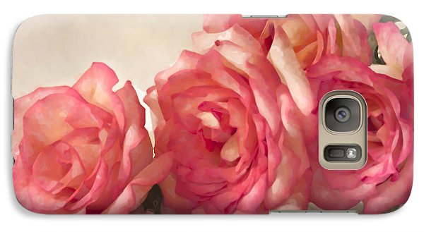 Galaxy Case featuring the photograph Rosy Elegance Digital Watercolor by Sandra Foster