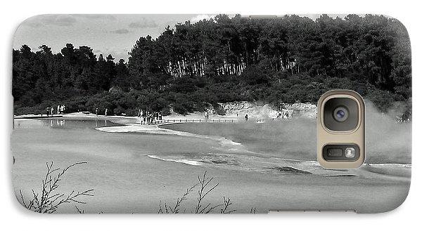 Galaxy Case featuring the photograph Rotorua New Zealand 3 Bw by Mariusz Kula