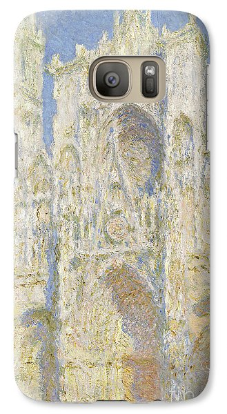 Rouen Cathedral West Facade Galaxy S7 Case by Claude Monet