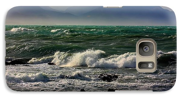 Galaxy Case featuring the photograph Rough Seas Kaikoura New Zealand by Amanda Stadther