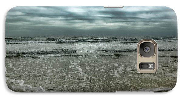 Galaxy Case featuring the photograph Rough Surf by Ellen Heaverlo