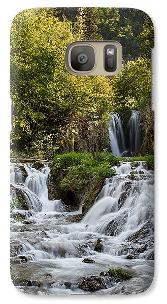 Galaxy Case featuring the photograph Roughlock Falls South Dakota by Patti Deters