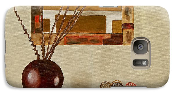 Galaxy Case featuring the painting Round Vase by Laura Forde