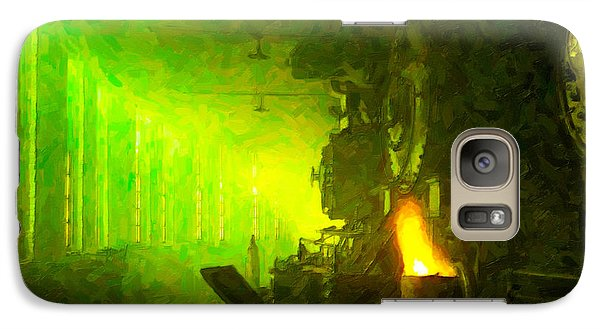 Galaxy Case featuring the digital art Roundhouse Morning by Chuck Mountain