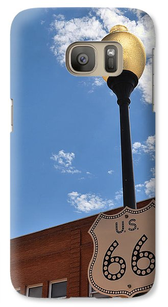 Route 66 Light Post Vivid Galaxy S7 Case
