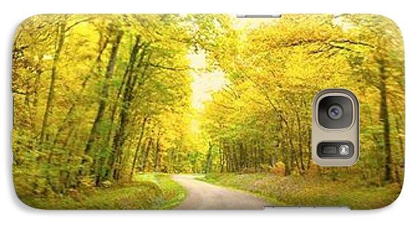 Route Dans La Foret Jaune Galaxy S7 Case