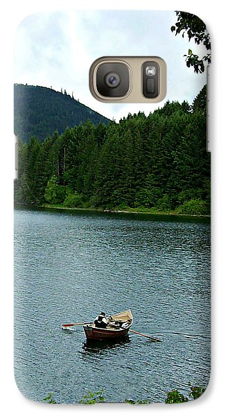 Galaxy Case featuring the photograph Row Boat At Dorena Lake  by Mindy Bench