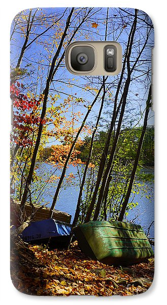 Galaxy Case featuring the photograph Row Boats Along Croton Reservoir - Ny by Rafael Quirindongo