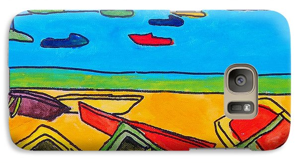 Galaxy Case featuring the painting Rowboats by Artists With Autism Inc