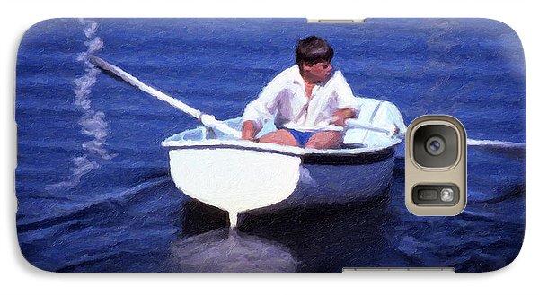 Galaxy Case featuring the digital art Rower by Richard Farrington