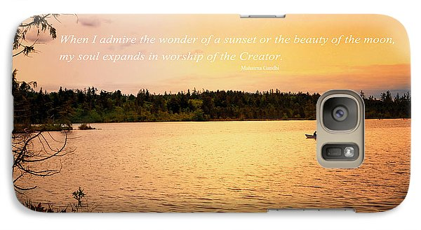 Galaxy Case featuring the photograph Rowing Into The Sunset by Kelly Reber