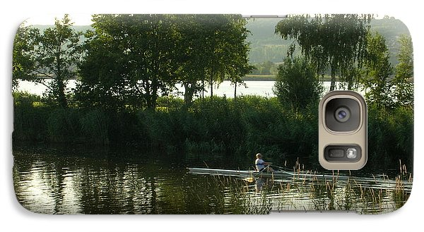 Galaxy Case featuring the photograph Rowing On The Mein by Kristen R Kennedy