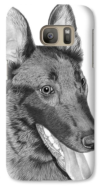 Galaxy Case featuring the drawing Roxy - 028 by Abbey Noelle