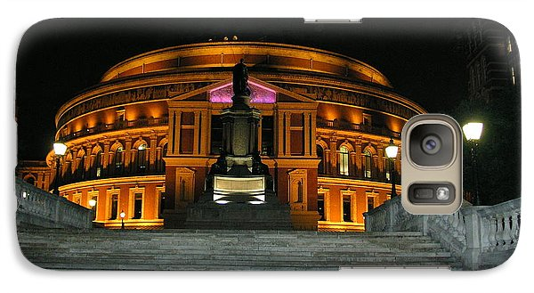 Galaxy Case featuring the photograph Royal Albert Hall At Night by Bev Conover