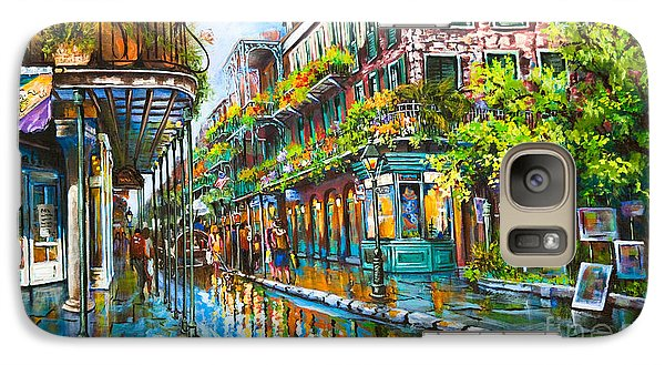Galaxy Case featuring the painting Royal At Pere Antoine Alley, New Orleans French Quarter by Dianne Parks