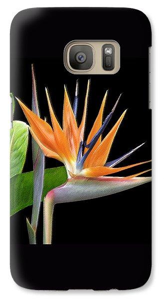 Crane Galaxy S7 Case - Royal Beauty I - Bird Of Paradise by Ben and Raisa Gertsberg