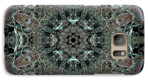 Galaxy Case featuring the digital art Royal Helioport Main Landing Pad by Rhonda Strickland