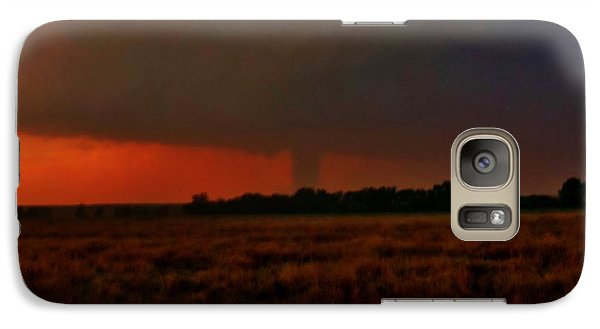 Galaxy Case featuring the photograph Rozel Tornado On The Horizon by Ed Sweeney