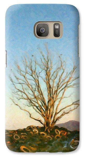 Galaxy Case featuring the digital art Rubber Tree by Spyder Webb